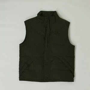Eddie Bauer Regular L Green  Puffer Vest Polyester